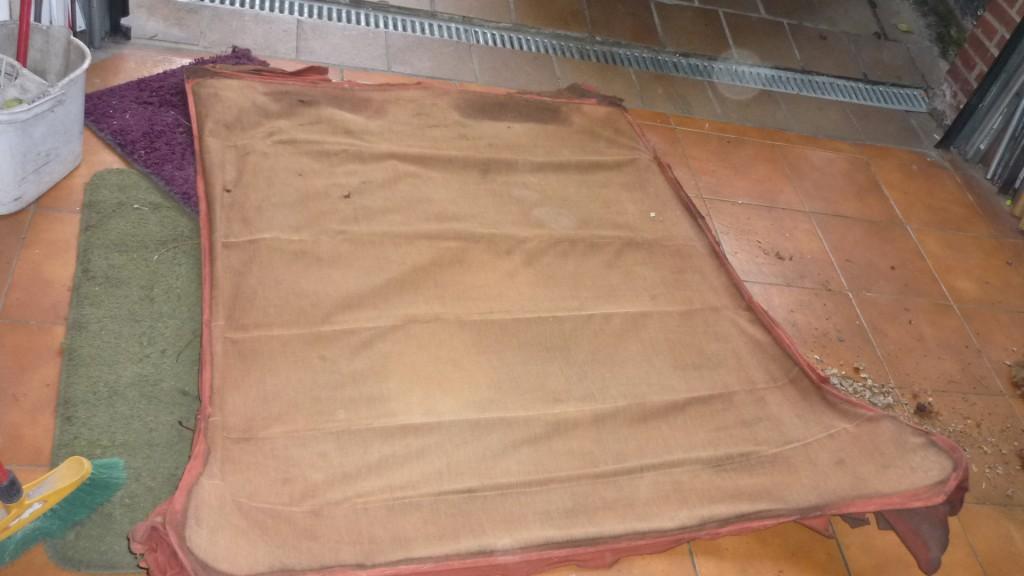 Tapizar el techo de un coche cl sico taller de cl sicas - Tela para tapizar techo coche ...