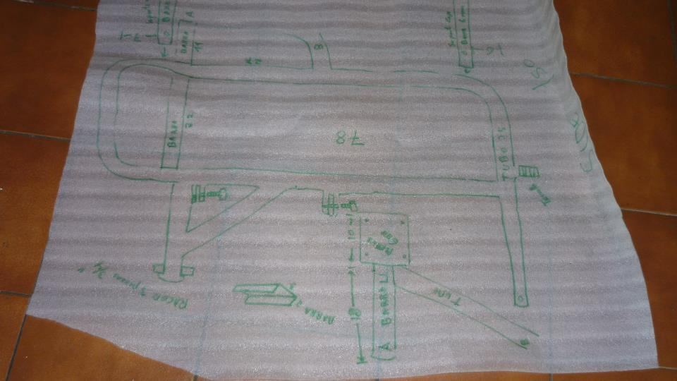 Este es el esquema del bastidor original, al que voy a intentar acoplarme