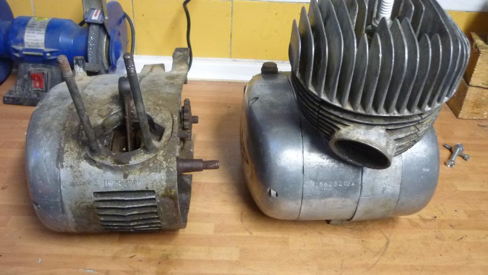 Con el motor de la izd de lube renn II, voy a reparar el de la dch lube renn