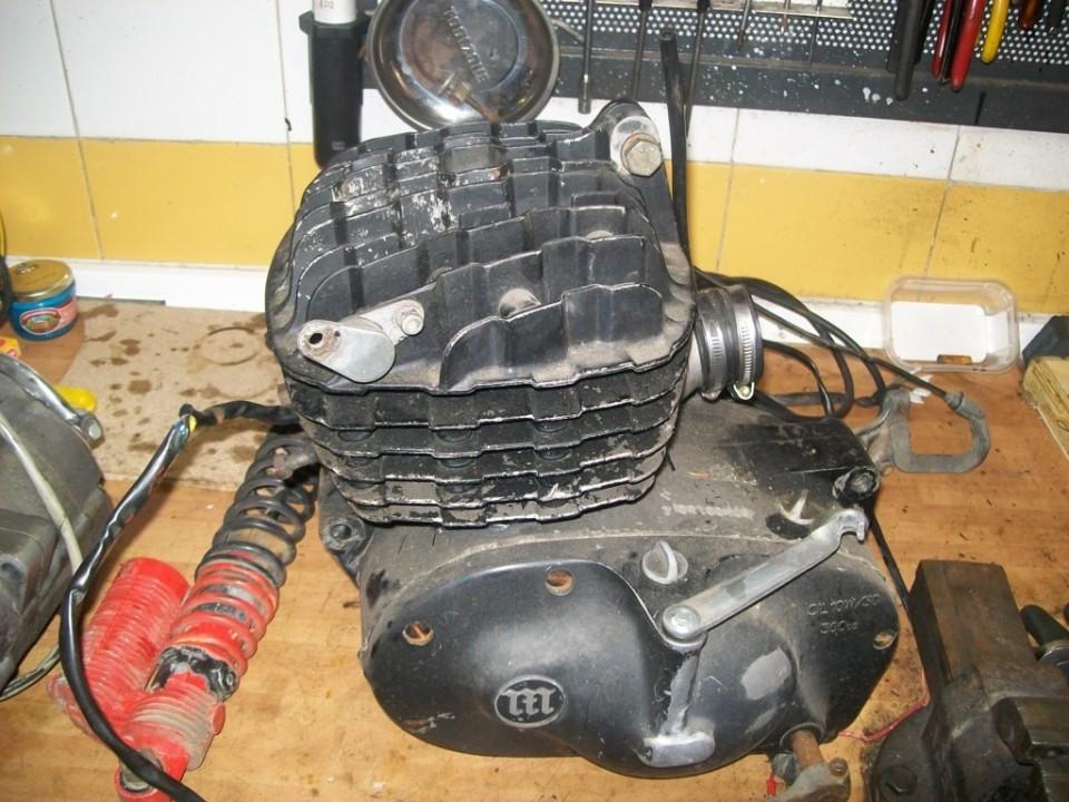 el motor fuera para ser revisado