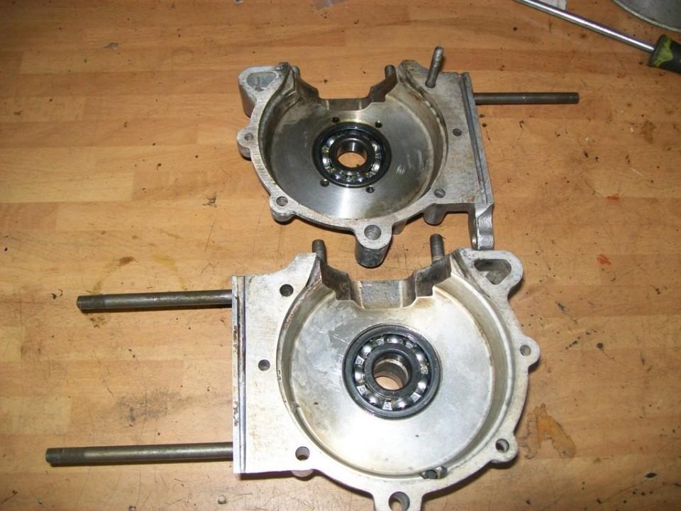 primero rodamientos, uno en la dcha y dos con un separador en la izd