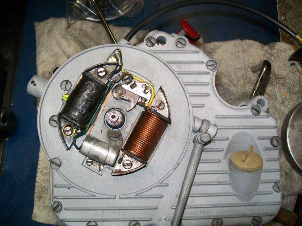 montamos las bobinas del plato magnetico con unos platinos nuevos